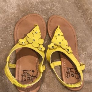 Olivia Miller Girl yellow sandals size 13